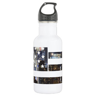 American Flag Design Stainless Steel Water Bottle