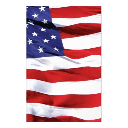 american flag design stationery paper