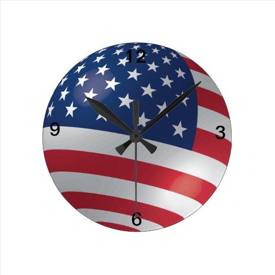 American Flag Designed Clock