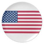American Flag Dinner Plate