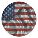 American Flag Dinner Plates