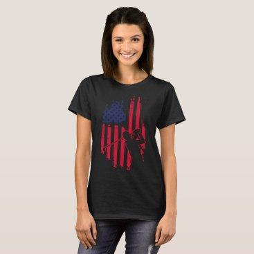 American flag disc golf t-shirt men