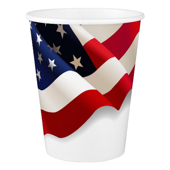 American Flag Disposable Party Paper Cups