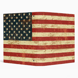 American Flag Distressed Vinyl Binders