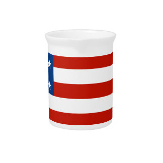 American Flag Distressed Drink Pitcher