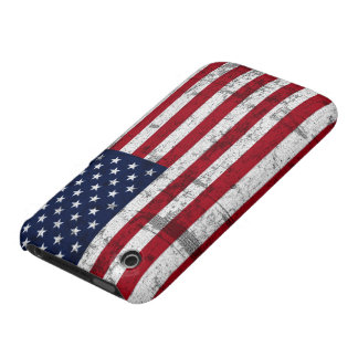 American Flag Distressed iPhone 3 Case-Mate Case