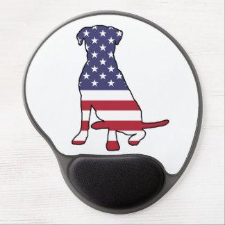American Flag Dog Gel Mouse Pad
