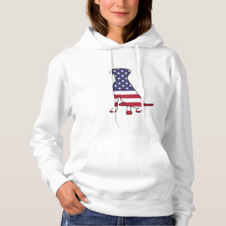 American Flag Dog Hoodie