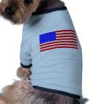 AMERICAN FLAG DOG T SHIRT