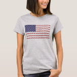 """American Flag Dog T-Shirt<br><div class=""""desc"""">An American flag design with paw prints and dogs</div>"""