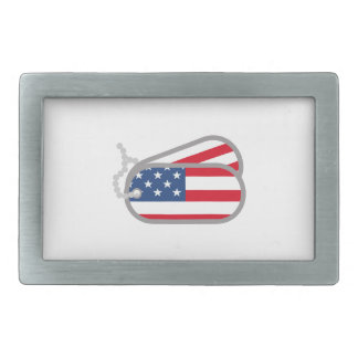 AMERICAN FLAG DOG TAGS BELT BUCKLES
