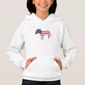 """American Flag"" Donkey Hoodie"