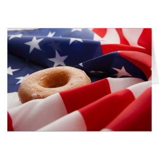 American Flag & Donut Greeting Card