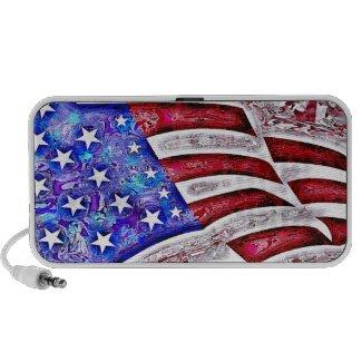 AMERICAN FLAG Doodle Speaker doodle