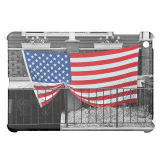 American Flag Draped on Home iPad Case