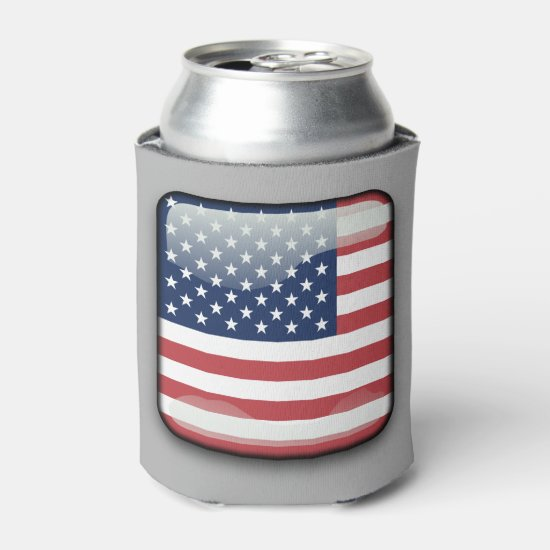 American Flag Drink Cooler, 4th of July Can Cooler