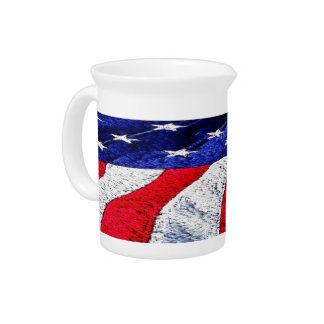 American Flag Drink Pitcher