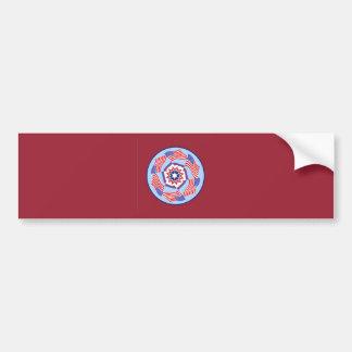 American Flag Dynamic Circle Car Bumper Sticker