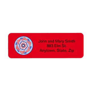 American Flag Dynamic Circle Label