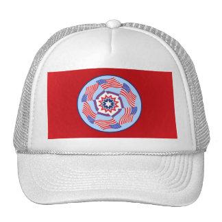 American Flag Dynamic Circle Trucker Hat
