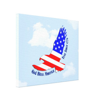 American Flag Eagle 4th of July Wall Art Decor
