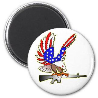 American Flag Eagle Ar-15 M16 Tattoo Magnet