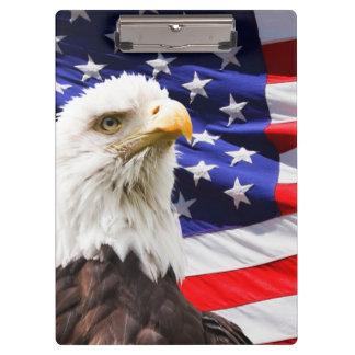 American Flag Eagle Bird Animal Destiny Office Clipboards