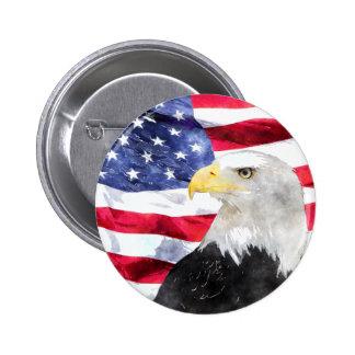 AMERICAN FLAG & EAGLE PIN