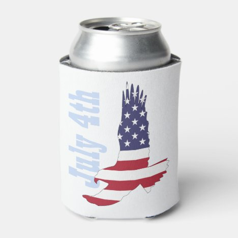 American Flag & Eagle Can Cooler, 4th of July Can Cooler