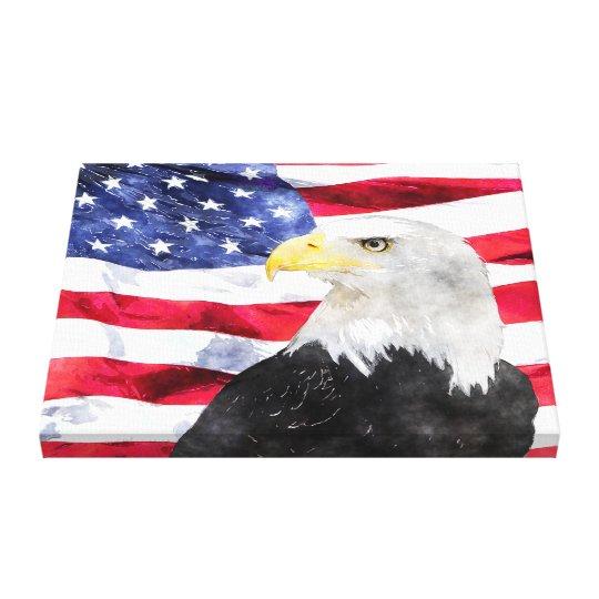 AMERICAN FLAG & EAGLE CANVAS PRINT