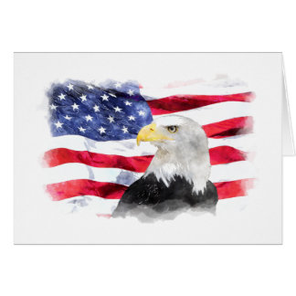 AMERICAN FLAG & EAGLE CARD