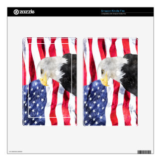 AMERICAN FLAG & EAGLE DECALS FOR KINDLE FIRE