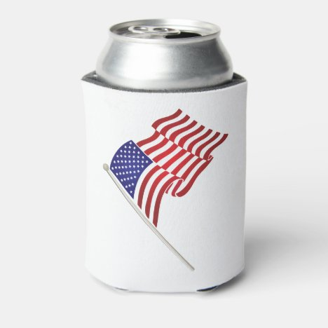 American Flag & Eagle Drink Cooler, 4th of July Can Cooler