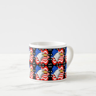 American Flag & Eagle Espresso Cup