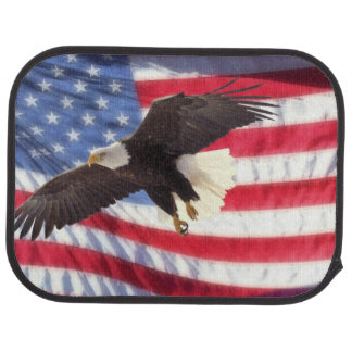 American Flag & Eagle Floor Mat for Car