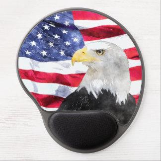 AMERICAN FLAG & EAGLE GEL MOUSE MATS