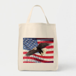 American Flag & Eagle Grocery Tote Tote Bag