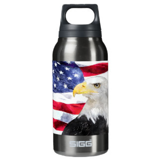 AMERICAN FLAG & EAGLE INSULATED WATER BOTTLE