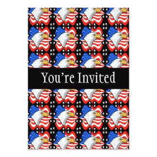 American Flag & Eagle 5x7 Paper Invitation Card