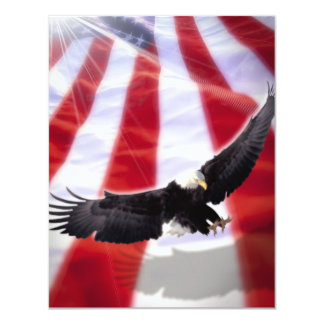 American Flag & Eagle Invitation