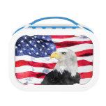 AMERICAN FLAG & EAGLE LUNCHBOX