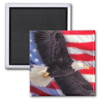 American Flag & Eagle Magnet