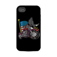 American Flag Eagle Motorcycle iPhone4 Case casemate_case