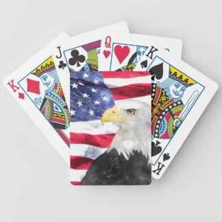 AMERICAN FLAG & EAGLE BICYCLE POKER DECK