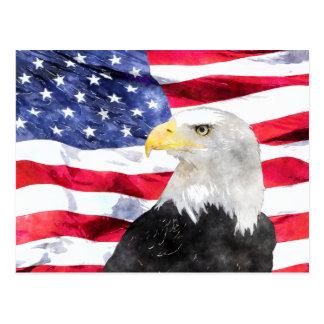 AMERICAN FLAG & EAGLE POSTCARDS