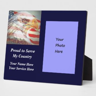 American Flag Eagle Service Plaque