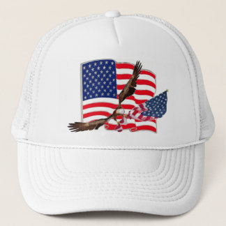 American Flag Eagle Soaring Baseball Hat