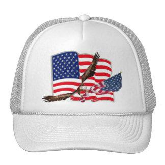 American Flag Eagle Soaring Baseball Hat