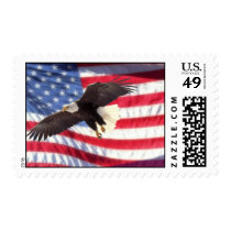 American Flag & Eagle Stamp