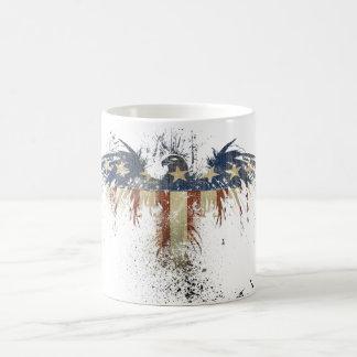 American Flag Eagle Star Morphing Coffee Mug